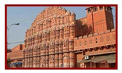 palace of wind during Jaipur car tours